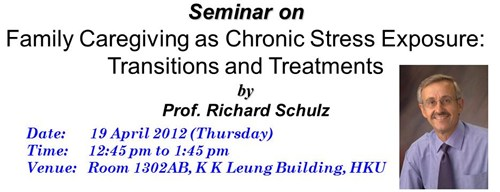 2012 Seminar on Family Caregiving as Chronic Stress Exposure: Transitions and Treatments